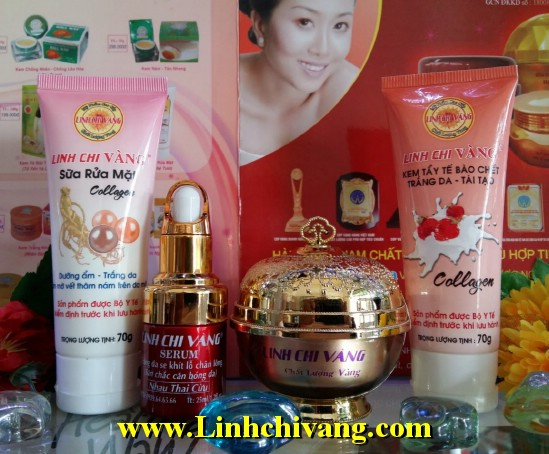 kem trị nám Vip Linh chi vàng